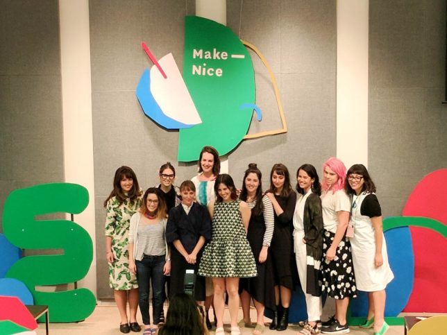The amazing speakers at the 2017 Make Nice: Un – Conference for Creative Women.