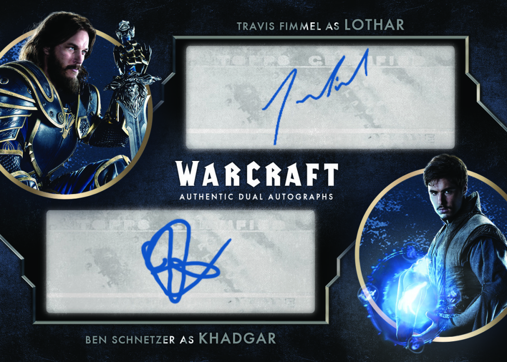 Dual Autograph Card: Lothar and Khadgar, signed by Travis Fimmel and Ben Schnetzer