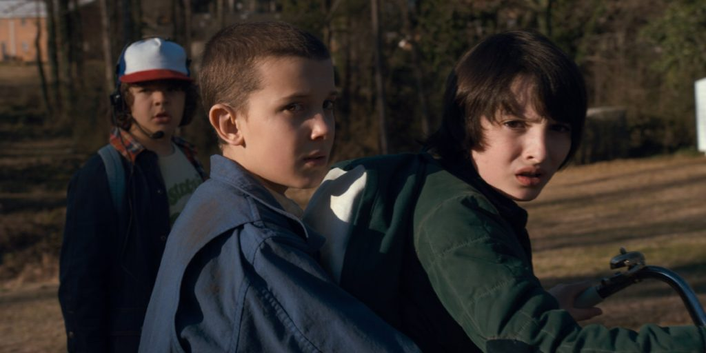 Finn Wolfhard 'Mike' and Millie Bobby Brown 'Eleven'