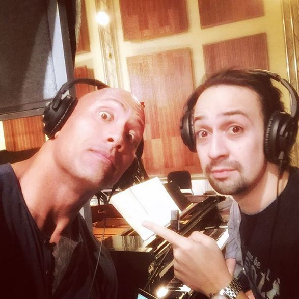 Dwayne Johnson & Lin-Manuel Miranda Image credit: Dwayne Johnson @therock Instagram