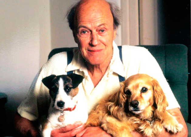 Roald Dahl seemed to always be smiling even when he wasn't smiling!